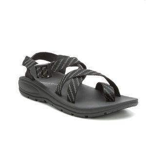 Madden Girl Black Reflective Strappy Sun Sandals